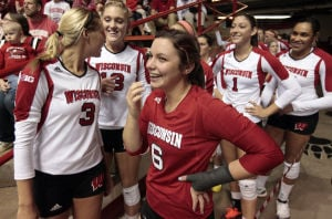 Photos: No. 3 Penn State sweeps Badgers at Field House