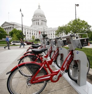 Bikes Madison Wisconsin The newly installed Madison