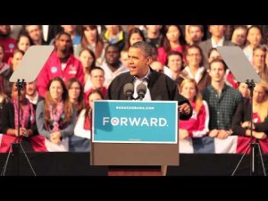 President Obama speaks on Bascom Hill