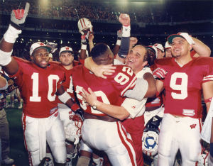 Photos:  From the Archives '93 Badgers Pasadena bound