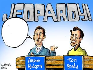 You Toon: What is Aaron Rodgers vs. Tom Brady on Jeopardy?