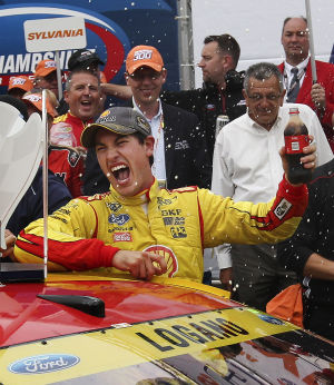 Video: Joey Logano wins NASCAR race in New Hampshire