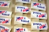 """I Voted"" stickers file photo"