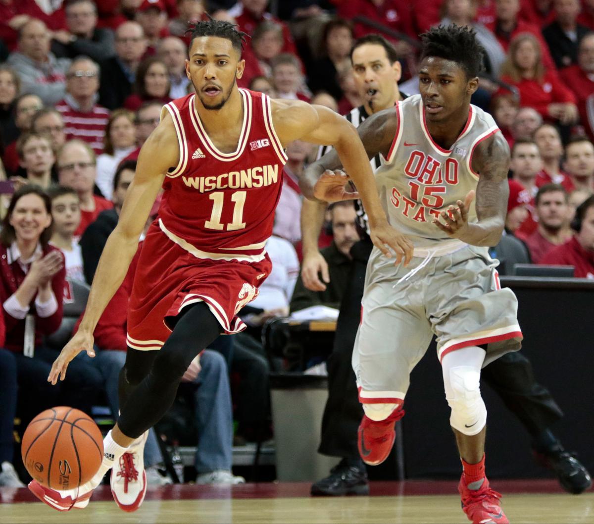Badgers men's basketball: Winding roads converge again for ex-teammates Jordan Hill, Duncan ...