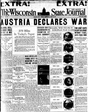 Pages from history July 28, 1914
