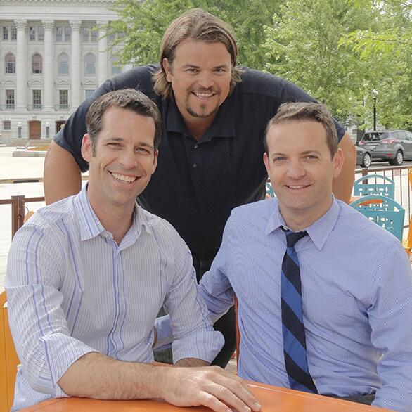 Jeff Haupt, Mark Tauscher, Craig Bartlett, new Isthmus Publishing owners