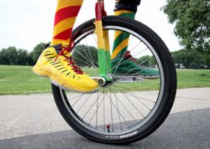 Photos: Amazing feats on one wheel abound at unicycling championships