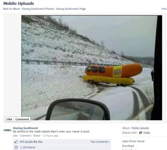 430472723660161024 besides Oscar Mayer Wienermobile Crashes On Snow Covered Pennsylvania Roads besides Oscar Mayer Wienermobile Gets Flying  panion moreover  further 282251642047. on oscar wienermobile in the snow
