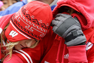 Photos: Rain, then pain for Badgers fans at Northwestern