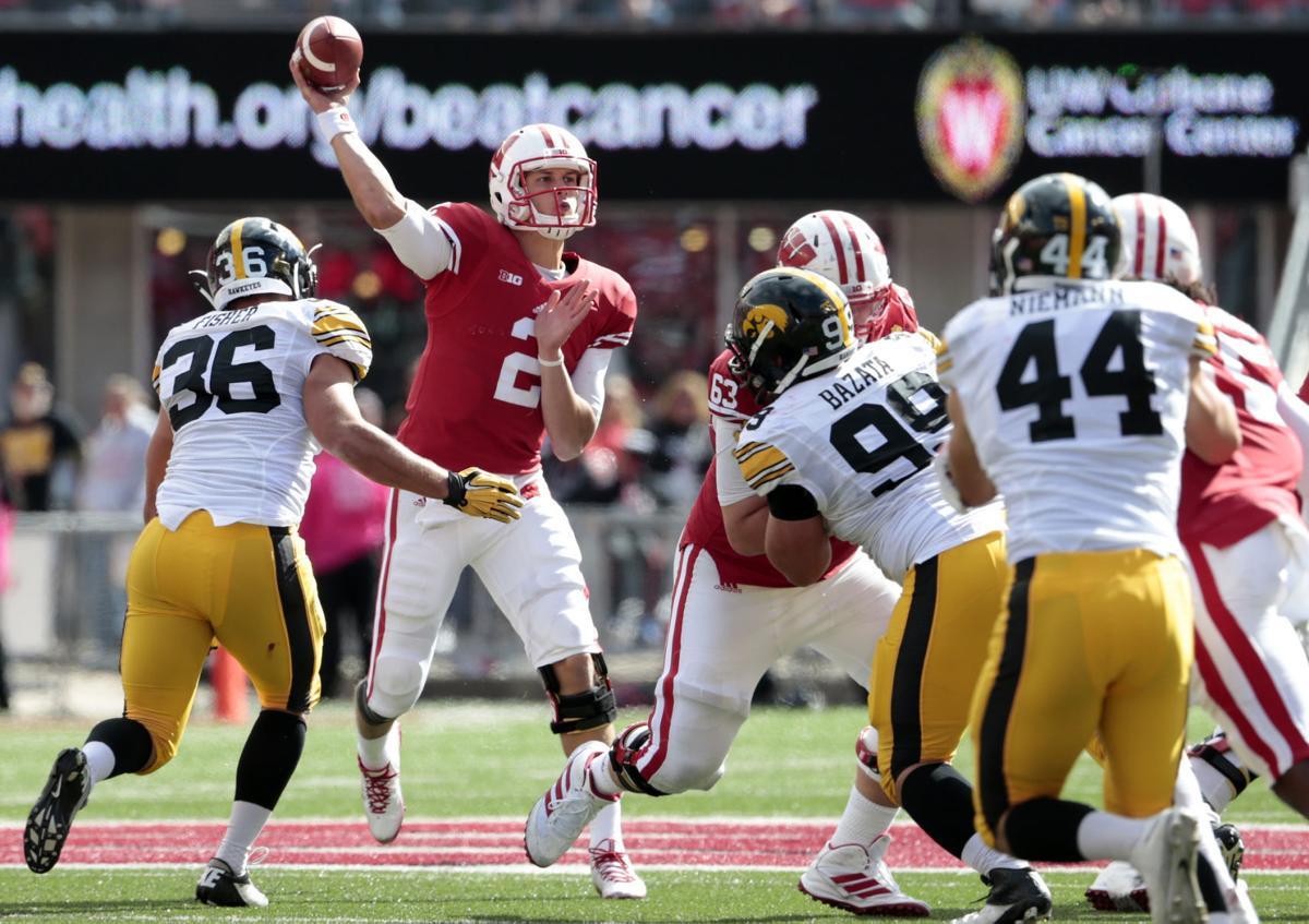 badgers football joel stave stays level through rocky career stave iowa photo