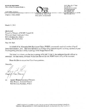 Letter on rescinding of layoff notices | | host.madison.com