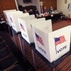 Voting booth file photo