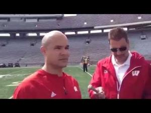 Video: Badgers defensive coordinator Dave Aranda offers a spring camp update
