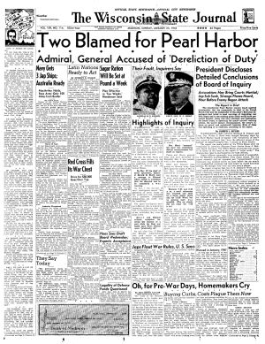 Pages from history Jan. 25, 1942