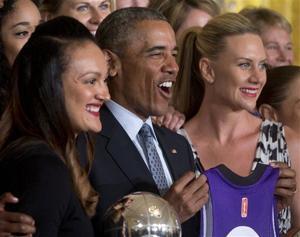 Photos: Janesville's Mistie Bass meets President Obama with Phoenix Mercury