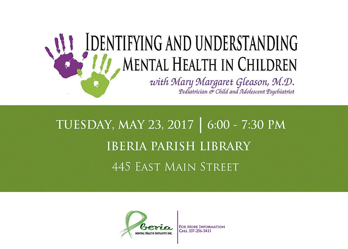 May is National Mental Health Month and in Iberia Parish