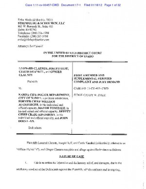 Amended Nampa police lawsuit