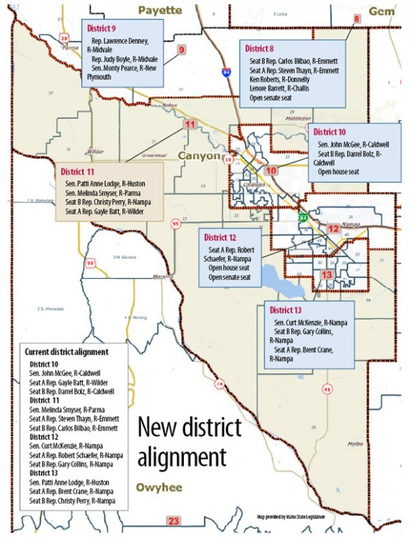 New Map Redraws Canyon County Legislative District Voting