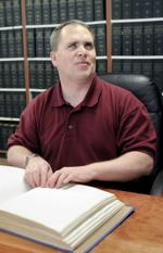 <p>Michael Gibson, of Nampa, is a disability coordinator at Boise State University and sits on the board of the Idaho Commission for the Blind. Tuesday, April 7, 2015 Adam Eschbach/IPT</p>