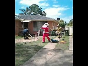 VIDEO: Santa Firefighter Saves Man