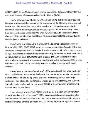Renee McKenzie affidavit