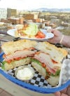 <p>The village club and wedge salad pair well with the view at Zee's Rooftop Cafe on the top of C.W. Moore Plaza in downtown Boise. Thursday, March 20, 2014 (Greg Kreller/IPT)</p>