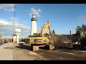 VIDEO: Demolition work begins on the old Lighthouse Rescue Mission building