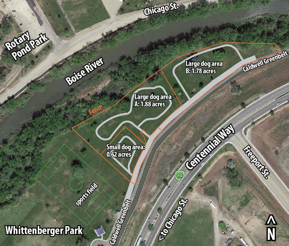 Caldwell Reveals Dog Park Members Idahopresscom - Map of chicago dog parks