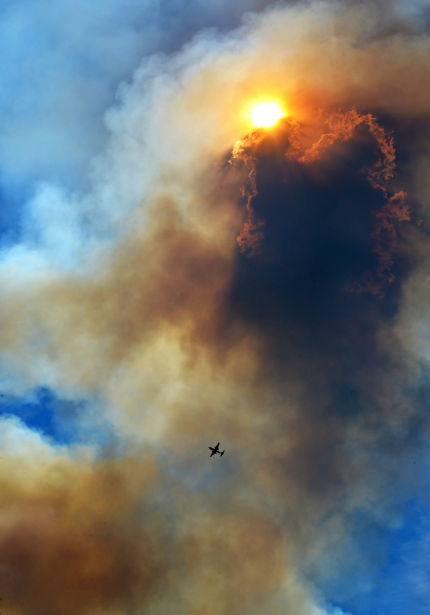 <p>A fire from Sunday night flared up again just east of 2 1/2 mile Road northeast of Chubbuck. The fire is suppose to be contained sometime Monday night. The fire is on the border of Bannock County and the Fort Hall Reservation.</p>
