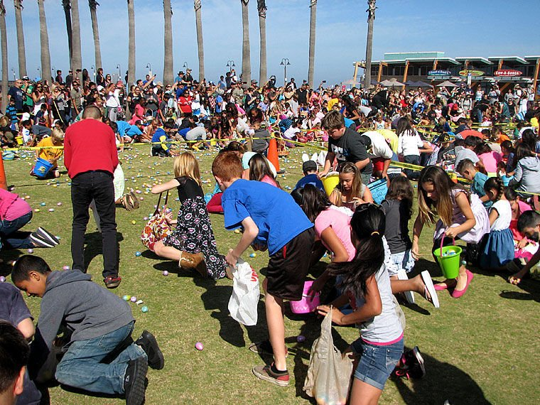 Annual Easter Egg Hunt Draws Crowds To Pier Plaza