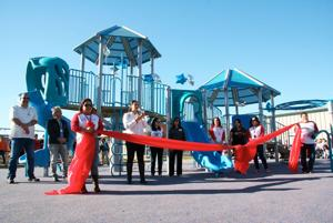 New playground built for nestor language academy for Built by nester