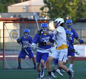 Amador Valley High School lacrosse team defeated crosstown rival, Foothill High, 13 to 8 in NCS Division 1 playoff action on May 11. Amador lost to Granite Bay 8 to 6 in a Friday match-up, giving up four goals in the final quarter (Photos - Doug Jorgensen).