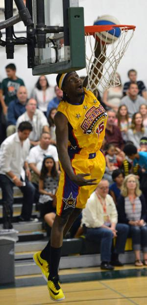 The Harlem Wizards entertained the crowd last weekend, April 23-24. The interactive show held on a basketball court raised money for the Livermore Valley Education Foundation (Photos - Doug Jorgensen).