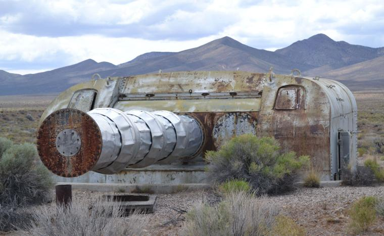 A turret gun in Nevada Desert