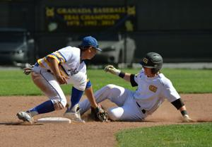 Granada High School boys baseball team defeated Foothill High 5 to 1 in EBAL conference action. All of the scoring took place in the first two innings (Photos - Doug Jorgensen).