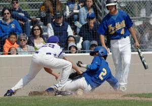 The Foothill High School Falcons varsity baseball team won the Friday, May 22nd, home conference game against rival Amador Valley, 4-3. Amador scored two in the top of the seventh to make it a close encounter (Photos - Doug Jorgensen).