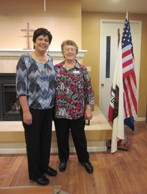 <p>Pictured are Regina Juan, Outstanding Teacher for 2016 for Josefa Higuera Chapter of DAR and Pat Baker, Chairman of the committee.</p>