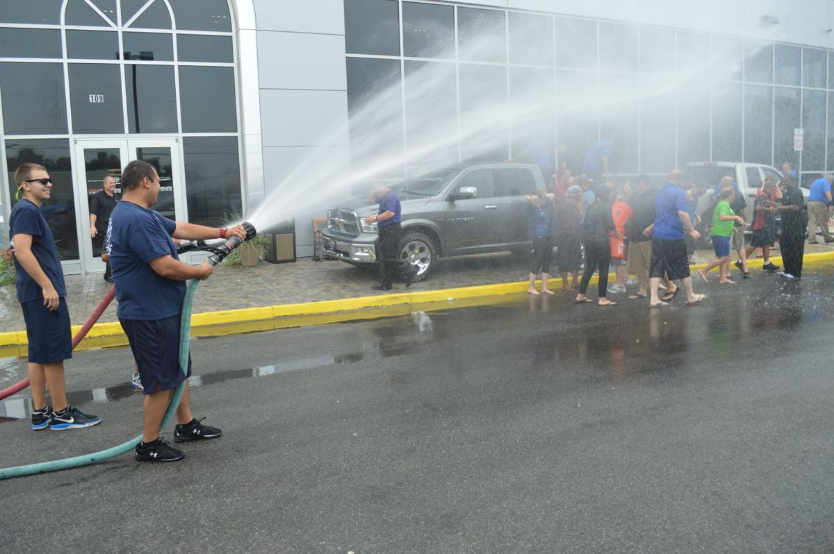 Fire Company Helps With Dulles Motorcars Als Challenge