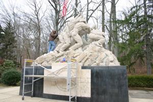 Cleaning up Iwo Jima