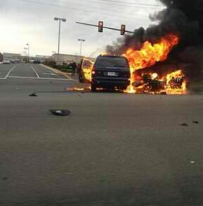 Prince William officer involved in fiery crash