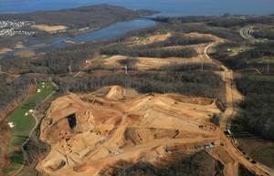 Aerial view of Potomac Shores development