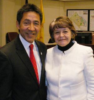 Walter Tejada and Emma Violand-Sanchez