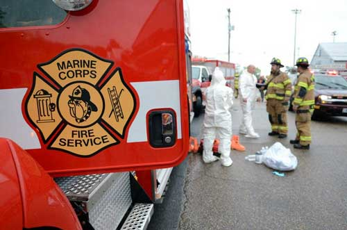 Suspicious powder on Marine Corps Base Quantico | Multimedia ...