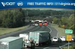 I-95 south at Va. 17 crash