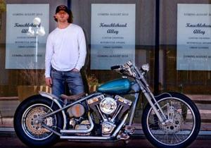 Vintage motorcycle shop to park downtown