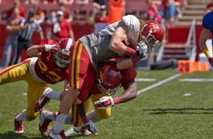 ISU footballl plays spring game
