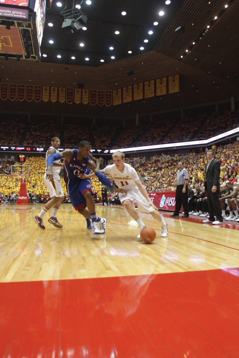 Iowa State Men's Basketball v. Kansas--Scott Christopherson