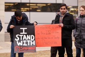 Students remember those killed in terrorist attack in Pakistan