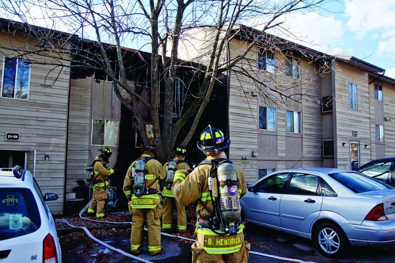 Campus Ave. Fire - Cleanup
