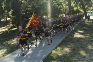 ROTC Gameball Run